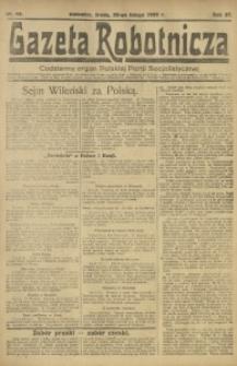 Gazeta Robotnicza, 1922, R. 27, nr 43