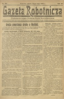 Gazeta Robotnicza, 1922, R. 27, nr 107