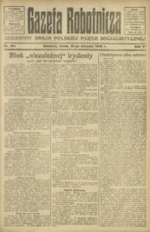Gazeta Robotnicza, 1922, R. 27, nr 189