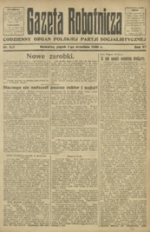 Gazeta Robotnicza, 1922, R. 27, nr 197