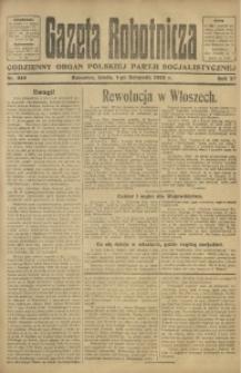 Gazeta Robotnicza, 1922, R. 27, nr 249