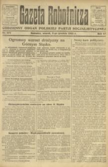 Gazeta Robotnicza, 1922, R. 27, nr 277
