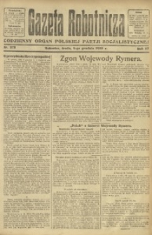 Gazeta Robotnicza, 1922, R. 27, nr 278
