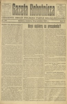 Gazeta Robotnicza, 1922, R. 27, nr 281