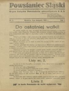 Powstaniec Śląski, 1922, R. 1, nr 5