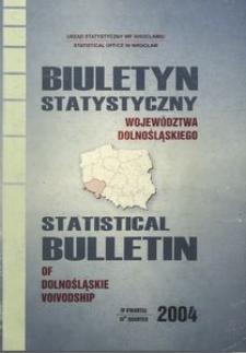 Biuletyn statystyczny województwa dolnośląskiego, 4 kwartał 2004