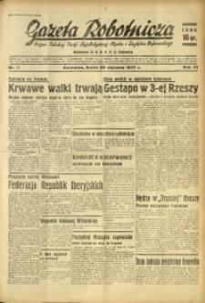 Gazeta Robotnicza, 1937, R. 41, nr 17