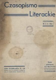 Czasopismo Literackie : organ grupy literacko-artystycznej Lit-Ars w Częstochowie, 1936, R.1, Nr 2-3
