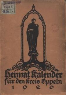 Heimatkalender für den Kreis Oppeln, 1926, Jg. 1