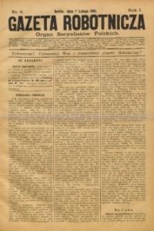 Gazeta Robotnicza, 1891, R. 1, nr 6