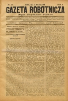 Gazeta Robotnicza, 1891, R. 1, nr 16
