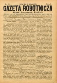 Gazeta Robotnicza, 1891, R. 1, nr 47