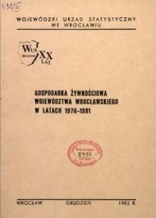 Gospodarka żywnościowa w województwie wrocławskim w latach 1976-1981