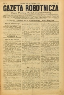 Gazeta Robotnicza, 1894, R. 4, nr 6