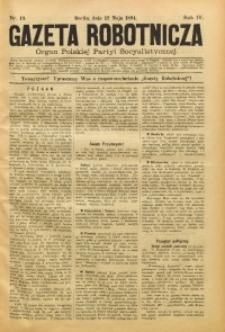 Gazeta Robotnicza, 1894, R. 4, nr 19