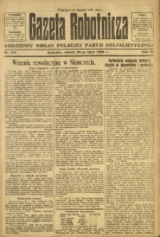 Gazeta Robotnicza, 1923, R. 28, nr 167