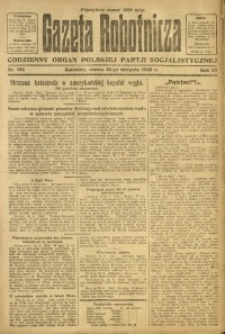 Gazeta Robotnicza, 1923, R. 28, nr 184