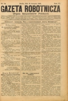 Gazeta Robotnicza, 1893, R. 3, nr 34