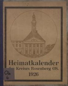 Heimat-kalender für den Kreis Rosenberg OS. auf das Jahr 1926