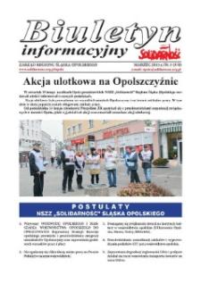 """Biuletyn Informacyjny """"Solidarność"""" 2015, nr 3 (370)."""
