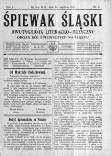 Śpiewak Śląski, 1921, R. 2, nr 2