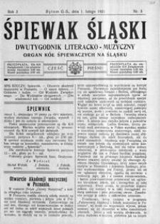 Śpiewak Śląski, 1921, R. 2, nr 3