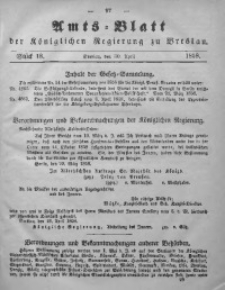 Amts-Blatt der Königlichen Regierung zu Breslau, 1858, Bd. 49, St. 18