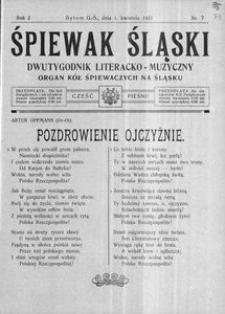 Śpiewak Śląski, 1921, R. 2, nr 7