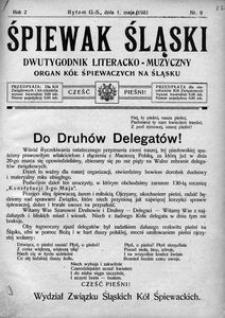 Śpiewak Śląski, 1921, R. 2, nr 9