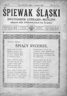 Śpiewak Śląski, 1921, R. 2, nr 10/11