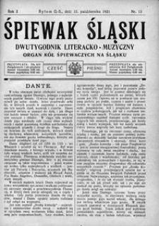 Śpiewak Śląski, 1921, R. 2, nr 13