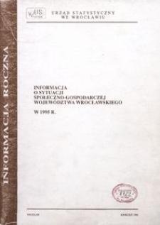 Informacja o sytuacji społeczno-gospodarczej województwa wrocławskiego w 1995 r. [Informacja roczna]