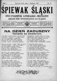 Śpiewak Śląski, 1921, R. 2, nr 15