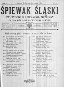 Śpiewak Śląski, 1922, R. 3, nr 6