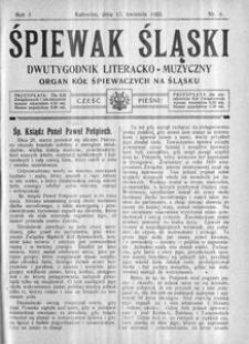 Śpiewak Śląski, 1922, R. 3, nr 8