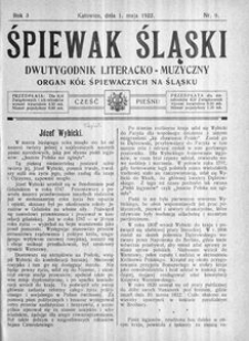 Śpiewak Śląski, 1922, R. 3, nr 9