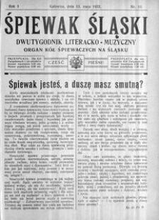 Śpiewak Śląski, 1922, R. 3, nr 10