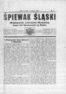 Śpiewak Śląski, 1922, R. 3, nr 11