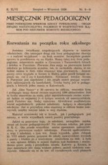 Miesięcznik Pedagogiczny, 1938, R. 47, nr 8/9