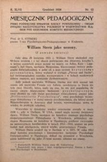 Miesięcznik Pedagogiczny, 1938, R. 47, nr 12