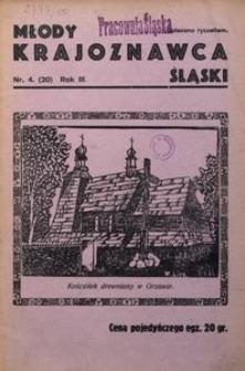 Młody Krajoznawca Śląski, 1936, R. 3, nr 4