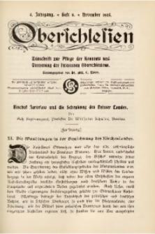 Oberschlesien, 1905, Jg. 4, H. 8