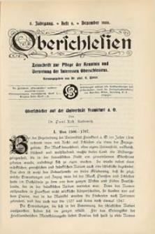 Oberschlesien, 1906, Jg. 5, H. 9