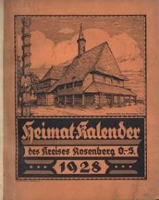 Heimat-Kalender des Kreises Rosenberg Oberschl., 1928