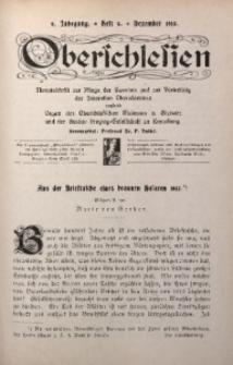 Oberschlesien, 1910, Jg. 9, H. 9