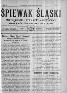 Śpiewak Śląski, 1923, R. 4, nr 2