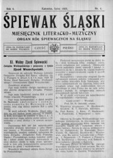 Śpiewak Śląski, 1923, R. 4, nr 4