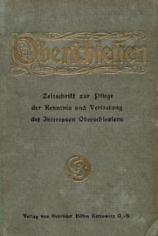 Oberschlesien, 1911, Jg. 10, Inhaltsverzeichnis