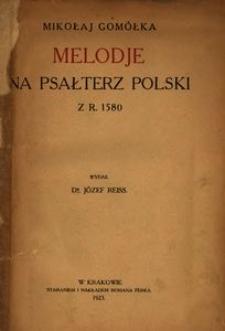 Melodje na Psałterz polski z r. 1580