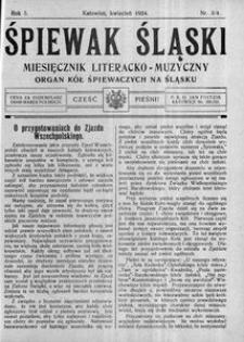 Śpiewak Śląski, 1924, R. 5, nr 3/4